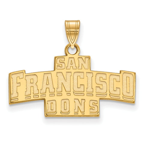 10ky LogoArt University of San Francisco Small Pendant