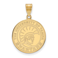 14ky LogoArt University of Tampa Medium Pendant