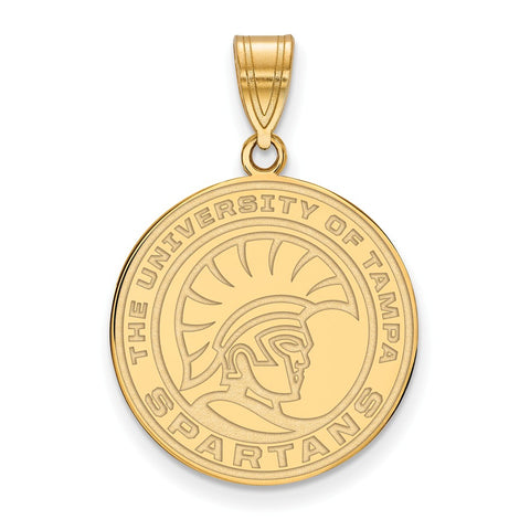 10ky LogoArt University of Tampa Medium Pendant