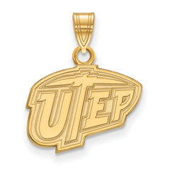 10ky LogoArt The University of Texas at El Paso Small Pendant