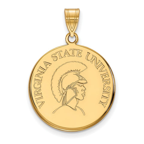 14ky LogoArt Virginia State University Large Disc Pendant