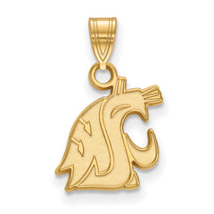 14ky LogoArt Washington State Small Pendant