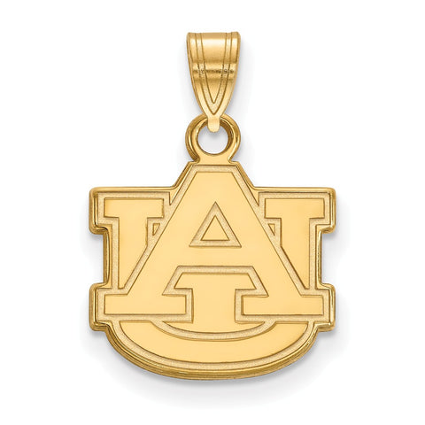 Sterling Silver w/GP LogoArt Auburn University Small Pendant