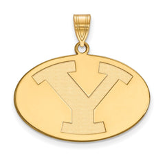 14ky LogoArt Brigham Young University Large Pendant
