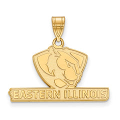 Sterling Silver w/GP LogoArt Eastern Illinois University Medium Pendant