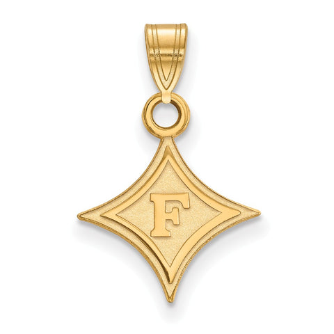 10ky LogoArt Furman University Small Pendant
