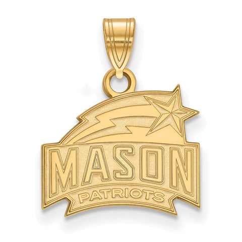 10ky LogoArt George Mason University Small Pendant