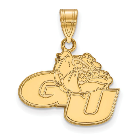 Sterling Silver w/GP LogoArt Gonzaga University Medium Pendant