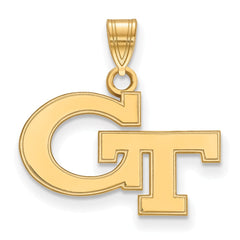 10ky LogoArt Georgia Institute of Technology Small Pendant