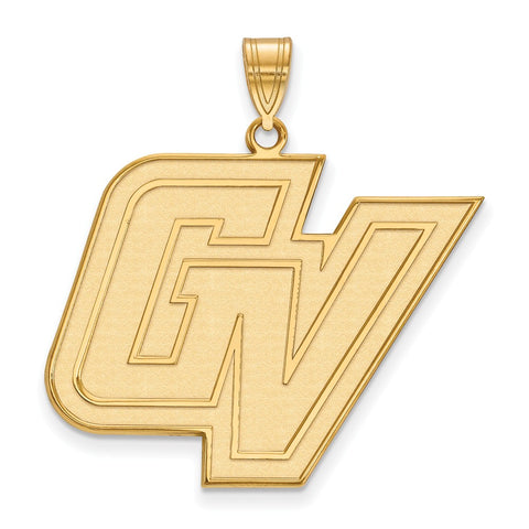 Sterling Silver w/GP LogoArt Grand Valley State XL Pendant