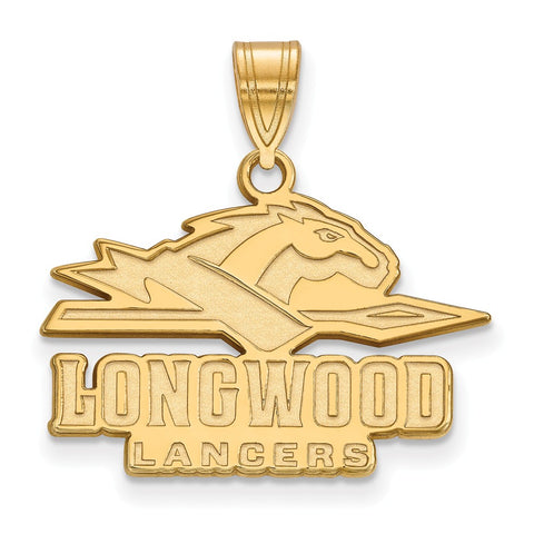 14ky LogoArt Longwood University Medium Pendant