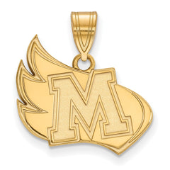 10ky LogoArt Meredith College Large Pendant
