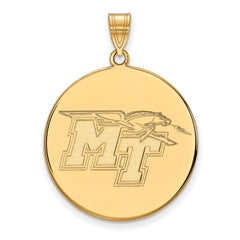 10ky LogoArt Middle Tennessee State University XL Disc Pendant