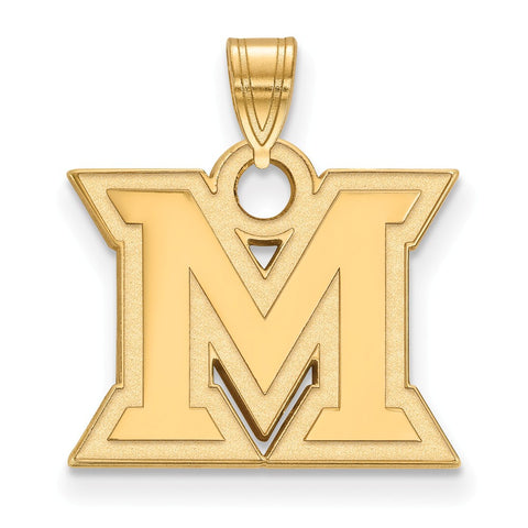 10ky LogoArt Miami University Small Pendant