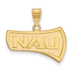 Sterling Silver w/GP LogoArt Northern Arizona University Medium Pendant