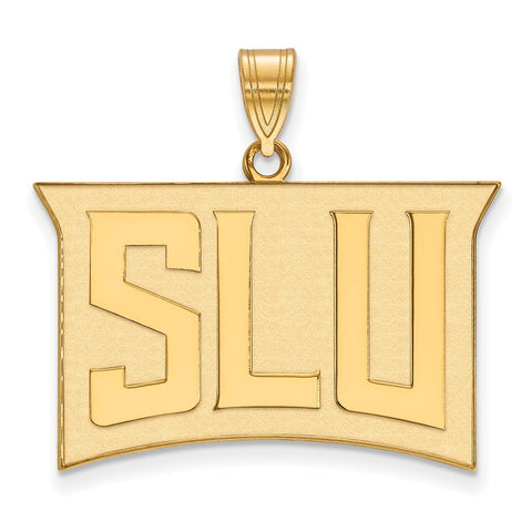 Sterling Silver w/GP LogoArt St. Louis University Large Pendant