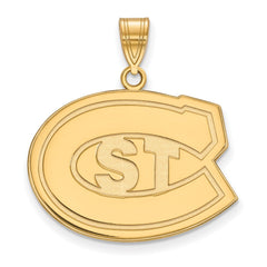 Sterling Silver w/GP LogoArt St. Cloud State Large Pendant