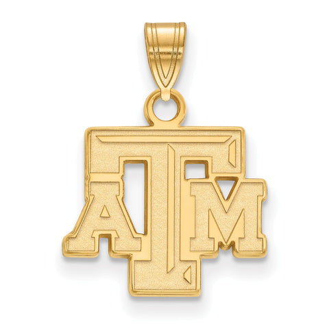 10ky LogoArt Texas A&M University Small Pendant