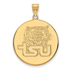 Sterling Silver w/GP LogoArt Tennessee State University XL Disc Pendant
