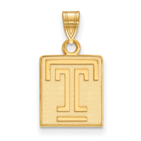 14ky LogoArt Temple University Small Pendant