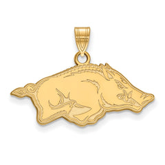 14ky LogoArt University of Arkansas Medium Pendant