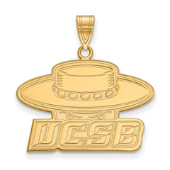 10ky LogoArt University of California Santa Barbara Large Pendant