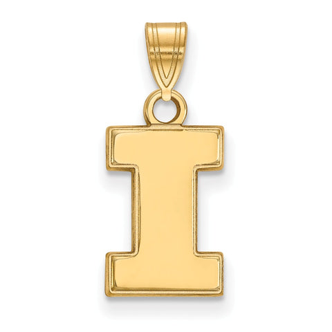 10ky LogoArt University of Illinois Small Pendant
