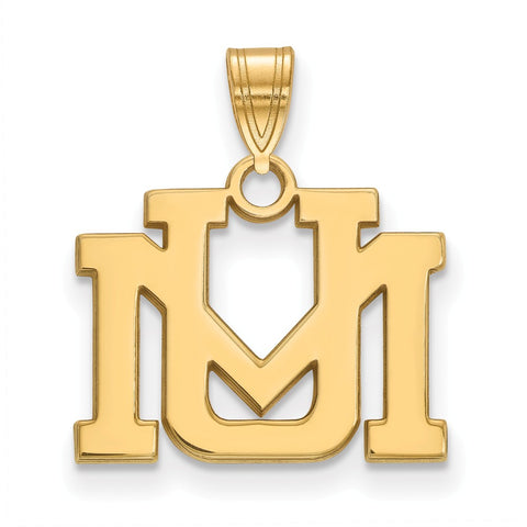 14ky LogoArt University of Montana Small Pendant