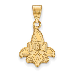 14ky LogoArt University of New Orleans Medium Pendant