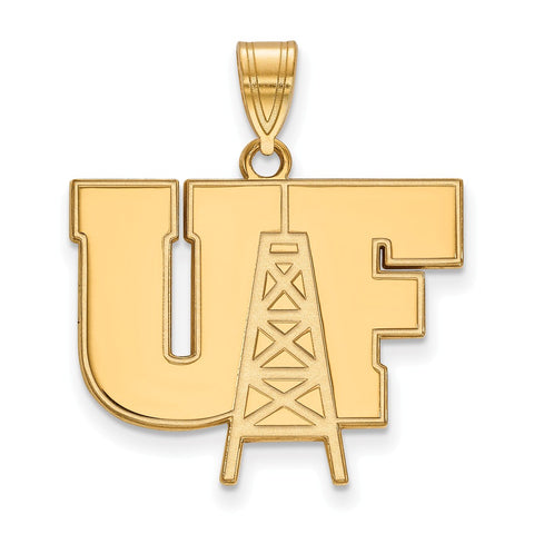 14ky LogoArt University of Findlay Large Pendant