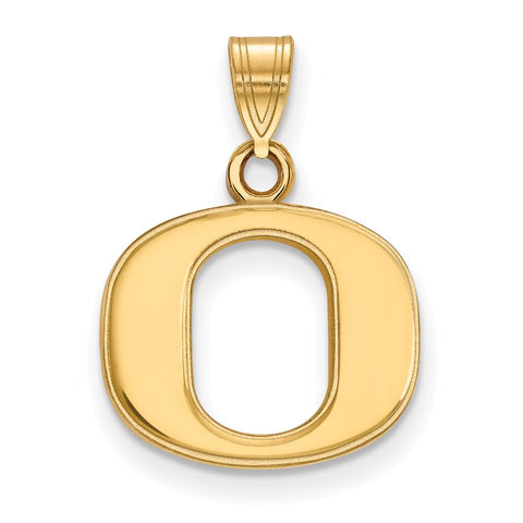 10ky LogoArt University of Oregon Small Pendant