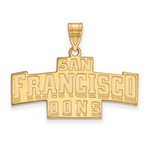14ky LogoArt University of San Francisco Medium Pendant