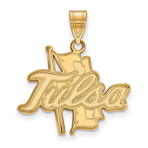 10ky LogoArt The University of Tulsa Large Pendant