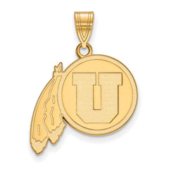 14ky LogoArt University of Utah Large Pendant
