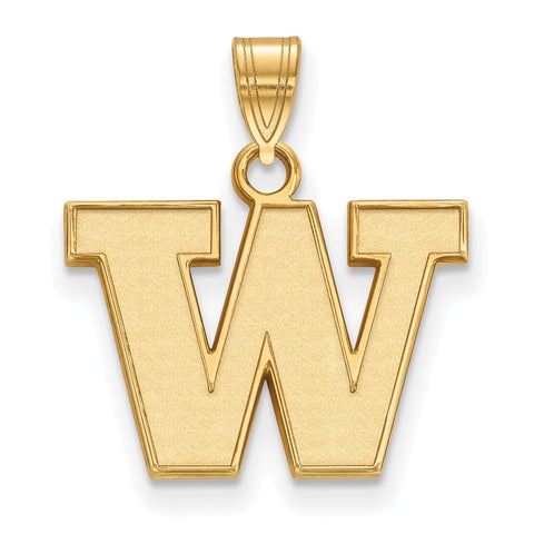 14ky LogoArt University of Washington Small Pendant