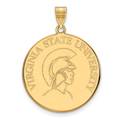 14ky LogoArt Virginia State University XL Disc Pendant