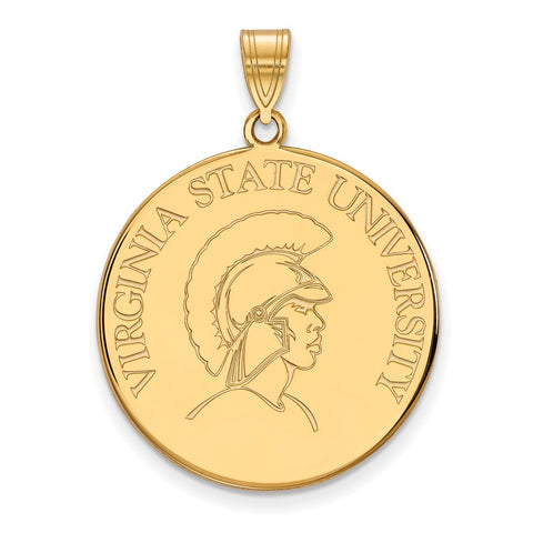 10ky LogoArt Virginia State University XL Disc Pendant