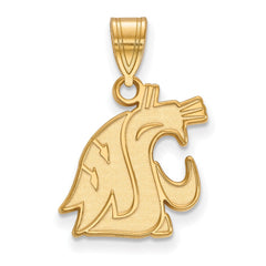 14ky LogoArt Washington State Medium Pendant
