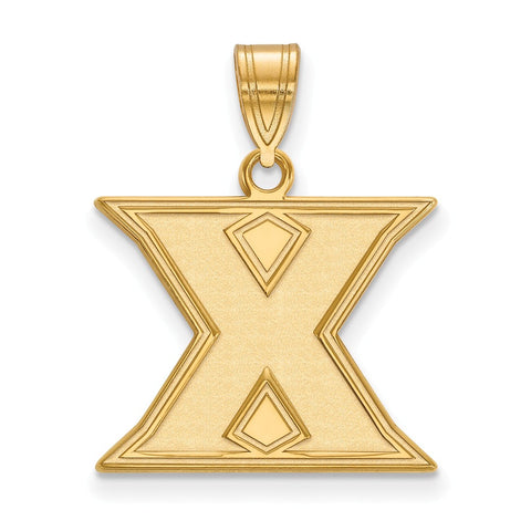 14ky LogoArt Xavier University Medium Pendant