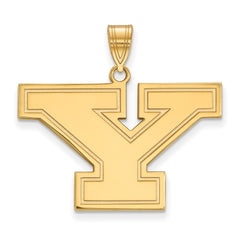 Sterling Silver w/GP LogoArt Youngstown State University Large Pendant