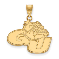 Sterling Silver w/GP LogoArt Gonzaga University Large Pendant