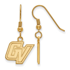 Sterling Silver w/GP LogoArt Grand Valley State Small Dangle Earrings