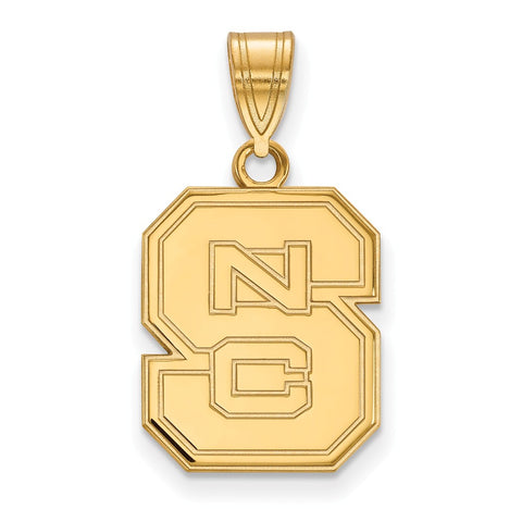 10ky LogoArt North Carolina State University Medium Pendant