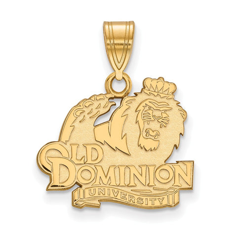 10ky LogoArt Old Dominion University Medium Pendant