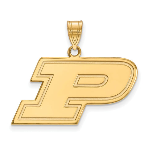 10ky LogoArt Purdue University Medium Pendant