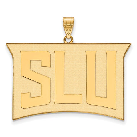 Sterling Silver w/GP LogoArt St. Louis University XL Pendant