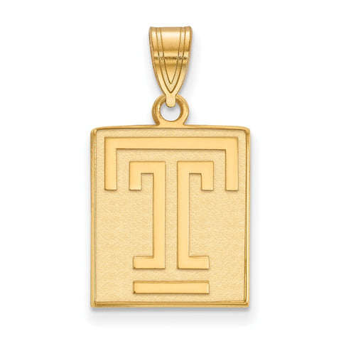10ky LogoArt Temple University Medium Pendant