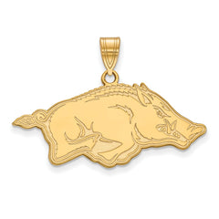 14ky LogoArt University of Arkansas Large Pendant