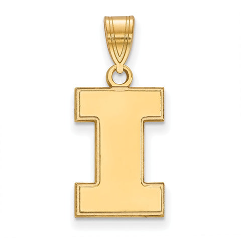 10ky LogoArt University of Illinois Medium Pendant