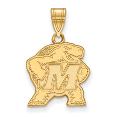 10ky LogoArt University of Maryland Medium Pendant